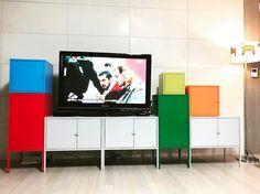 IKEA. Colourful storage combo LIXHULT.