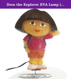 Dora the Explorer EVA Lamp (Nickelodeon). Dora the Explorer Eva lamp, stands about 9 1/2 inches. for indoor use only, note this item is not a toy.Ideal addition to a little girl's bedroom night lite.