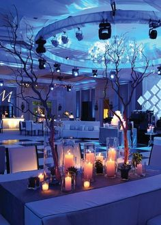 Great use of blue uplighting with candle light.   Photography_robin_gerrard_photographer_atlanta_ga