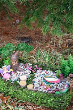 FAIRY GARDEN IDEA :: #fairygarden #fairygardenideas #diyfairygarden  #michaelsmakers #ad