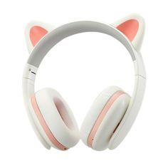Censi Music Headset Headphone Creative Cat Ear Stereo Over-ear Game Gaming Bass Headset Noise Canceling Headband Earphone with MIC Rechargerable Port for Bluetooth Device (White, Blutooth) Wireless Cat Ear Headphones, White Headphones, Noise Cancelling Headphones, Music Headphones, Diy Coque, Tech Accessories, Cell Phone Accessories, Accessoires Iphone, Gaming Headset