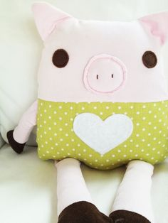 Toy Pig Sewing Pattern -