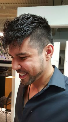 New hair cut for Rico by Noori Daili Next salon main street Santa Monica california  (310)392-6645