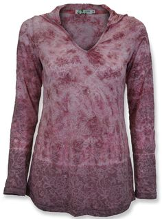 Avani Floral Hooded Tunic - perfect for a yoga session