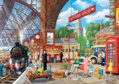 Awaiting Departure 1000 piece jigsaw puzzle par Derek Roberts Canada | CanadaPuzzles.ca