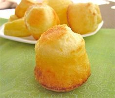 This Brazilian cheese bread is good. They are chewy and cheesy and (I've recently discovered) super easy to make.