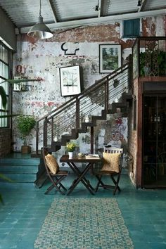Give a statement of Industrial Style to your Home with Vintage Tables, Stairs and Chairs. Get inspired! See more at http://vintageindustrialstyle.com
