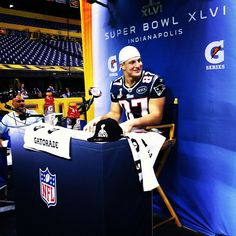 Gronk at Media Day in Indianapolis, IN #Patriots #SuperBowl