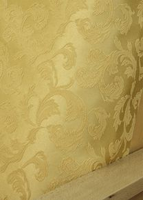 Brighton Carmel fabric offers embroidered tone on tone light gold floral pattern. #Slipcover is made of the finest quality #damask