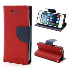 New Cute Goospery Mercury Series Case For iPhone 5 5G 5S PU Leather Wallet Stand Function Cover Phone Bags Free shipping