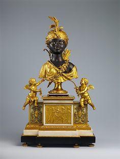 * Musical mantel clock (Pendule de cheminée). Clockmaker: Jean-Baptiste-André Furet (ca. 1720–1807, master 1746–89). Date: ca. 1784. Culture: French, Paris.