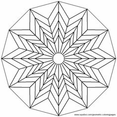 Geometric Coloring Pages - Mandala coloring Geometric Patterns, Geometric Mandala, Geometric Flower, Geometric Designs, Geometric Shapes, Flower Mandala, Geometric Coloring Pages, Pattern Coloring Pages, Coloring Book Art