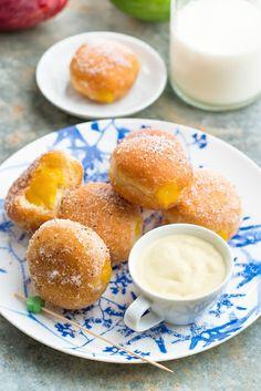 Beignets  confiture de mangue et crème légère © Patricia Kettenhofen