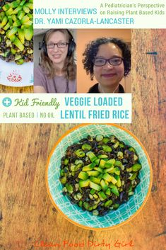 Kid Friendly Veggie Loaded Lentil Fried Rice. Plant Based, Oil Free.