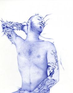 Abadidabou Sarah Esteje is a French artist, she draws amazing animal and figurative portraits with a blue Bic pen. The details in her illustrations is very impressive