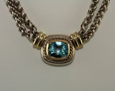 Blue Topaz David Yurman Necklace
