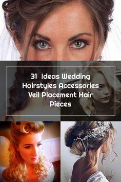 31  Ideas Wedding Hairstyles Accessories Veil Placement Hair Pieces Veil Placement, Wedding Hair Side, Hair Pieces, 31 Ideas, Wedding Hairstyles, Hair Accessories, Hair Styles, Hair Plait Styles, Extensions Hair