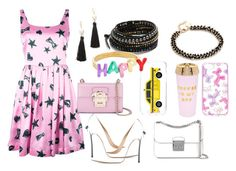 """Stars @ night"" by hillarymaguire ❤ liked on Polyvore featuring Moschino, Dolce&Gabbana, Casadei, Kate Spade, ban.do, MICHAEL Michael Kors, Chan Luu, Elizabeth and James, fabulous and fashionset"