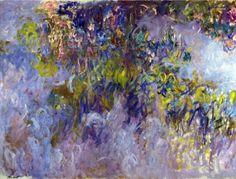 Reproduction de Monet, Wisteria 1. Tableau peint à la main dans nos ateliers. Peinture à l'huile sur toile.