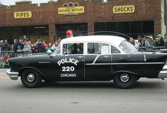 1957 Old Chicago Police Car https://mrimpalasautoparts.com