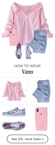 """""""Untitled #43"""" by juliah123-1 on Polyvore featuring WithChic, Essie, Vans and Kate Spade"""
