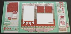 Two Page Christmas Layout using CTMH Sparkle and Shine WOTG and Cricut Art Philosopy #ctmh #scrapbooking #scraptabulousdesigns