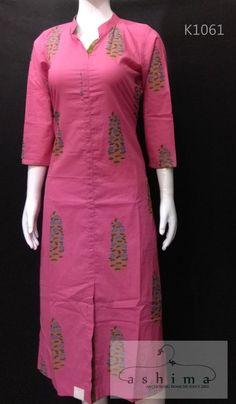 Women's kurtis online: Buy stylish long & short kurtis from top brands like BIBA, W & more. Salwar Kameez Neck Designs, Churidar Designs, Kurta Neck Design, Kurta Designs Women, Blouse Designs, Printed Kurti Designs, Simple Kurti Designs, Cotton Kurtis Designs, Kurtha Designs