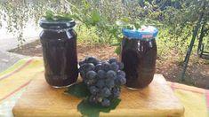 Boros Valéria: Mentás kék szőlő lekvár!!!! Energy Drinks, Beverages, Canning, Food, Drinks, Meal, Essen, Conservation