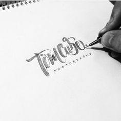 Tom Cube Photography. Sketch hand lettering logo. #handtype #handlettering #lettering #calligraphy ...