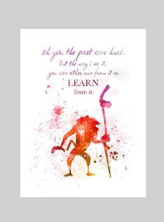 PRINT Rafiki inspired Quote illustration The Lion King Disney Kunst, Arte Disney, Disney Magic, Crazy Quotes, Funny Quotes, Crazy Sayings, Super Quotes, Disney Family, Disney Love