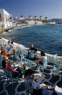 Mykonos, Greece....wow, I could totally do lunch there!
