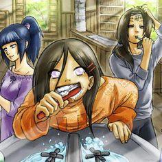 Neji Hyuga, Hinata hyuga, and Hanabi Hyuga