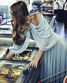 Vintage glamour in the supermarket...this would be fun with friends.