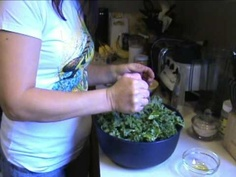 Kale chips dehydrated with sunflower seeds.