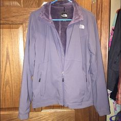 Dark Gray North Face Jacket North Face Women's Jacket, has fleece inside and is very warm. No rips, snags or stains. North Face Jackets & Coats