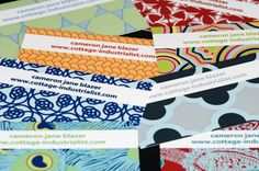 Make your own business cards. So chic. AND! Free. Thank you cottage industrialist!