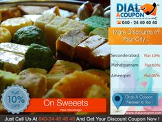 Sweets Are The Important Part Of Every Function Weather Its Engagement Or Wedding. Dial A Coupon Helps You To Get The Best Sweet With Best Discount .Call Dial A Coupon Get Your Discount Coupon  Now .  For More Discount Deals Please Visit: www.DialACoupon.com