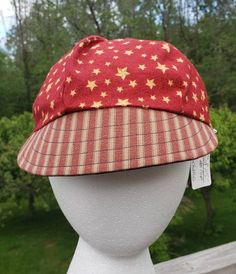 Tutti Frutti reversible Newsboy Cap with red white and blue flowers