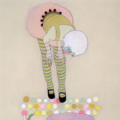 "Limited edition print ""UpsideDown"" by Jennifer Davis."