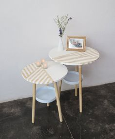 DIY Home Decor:  Make These Stylish Side Tables Out of Old Paint Buckets & Plywood   — Apartment Therapy Reader Project Tutorials
