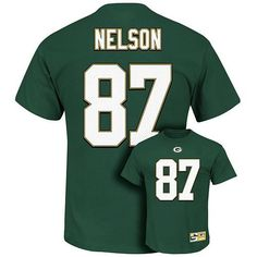 697240de Men's Green Bay Packers Jordy Nelson Majestic Green Eligible Receiver Name  and Number T-Shirt