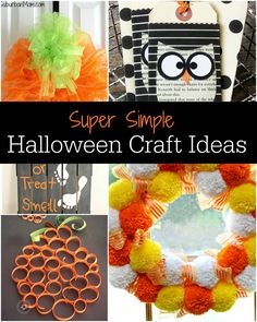 Who is ready for those amazingly fun holidays to begin? Me! You are going to love all of these Halloween craft ideas and they couldn't be easier to make!