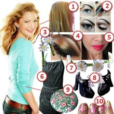 Drew Barrymore · DIY The Look · Cut Out + Keep