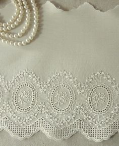 1yard Embroidery Cotton Eyelet Lace Trim by naturalbalcony on Etsy, $5.30