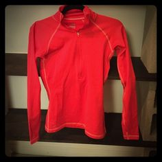 Nike Pro Running Jacket Red Nike Pro Running Jacket. Size small. Arms have holes for thumbs. WORN ONCE Nike Tops Sweatshirts & Hoodies