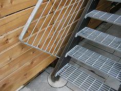 Custom handrail in galvanized steel by Face Design + Fabrication