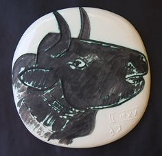 Picasso , white earthenware plate, 1956, Madoura pottery