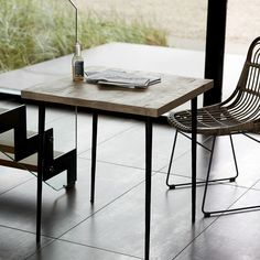 2 personers spisebord House Doctor, Slate, Outdoor Furniture, Outdoor Decor, Rattan, Dining Table, Living Room, Chair, Modern
