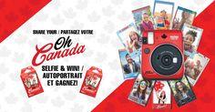 Show how you selfie with Oh Canada! instax mini film! Win great prizes all month long. / Prenez un autoportrait sur film instax mini Oh Canada! et gagnez des prix tout au long du mois.