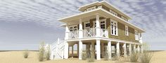 ePlans Cape Cod House Plan – Raised Beach House With Classic Cape Cod Style – 1581 Square Feet and 3 Bedrooms from ePlans – House Plan Code HWEPL76754